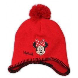E plus M Dívčí čepice Minnie - červená