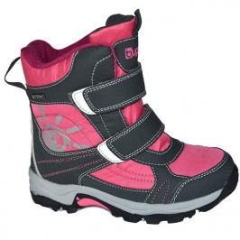 Bugga Dívčí zimní boty - růžovo-šedé