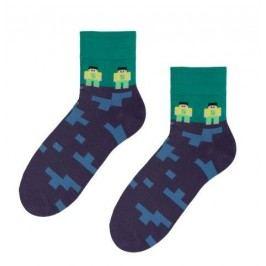 STEVEN Chlapecké ponožky Minecraft - modro-zelené