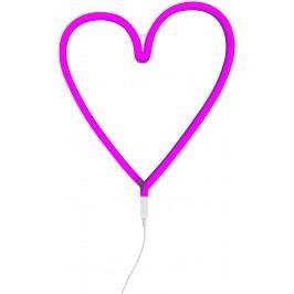 Little Lovely Company Neonové světýlko, srdce růžové