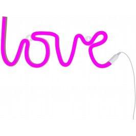 Little Lovely Company Neonové světýlko, love růžová