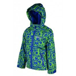 PIDILIDI Chlapecká outdoorová bunda - zeleno-modrá