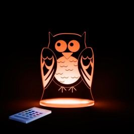 Aloka Noční světýlko Sova + ovladač pro volbu barev