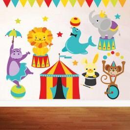 Housedecor Samolepka na zeď Cirkus show 90x60 cm