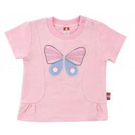 2be3 Dívčí tričko Motýl - růžové