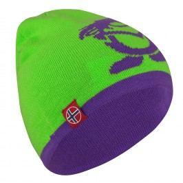 Trollkids Dětská oboustranná čepice Beanie - zeleno-fialová