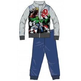 Disney by Arnetta Chlapecká tepláková souprava Avengers - šedo-modrá