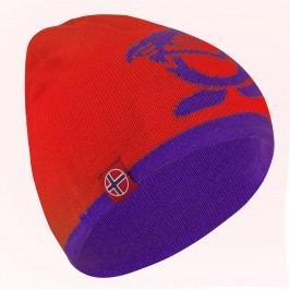 Trollkids Dětská oboustranná čepice Beanie - červeno-fialová