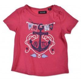 Blue Seven Dívčí tričko Secrets - tmavě růžové