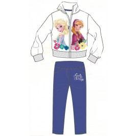 Disney by Arnetta Dívčí tepláková souprava Frozen - bílo-modrá