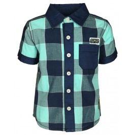 Blue Seven Chlapecká kostkovaná košile - modro-zelená