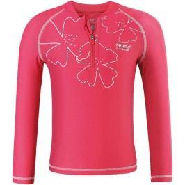 Reima Dívčí plavecké triko Solomon s UV ochranou 50+ - růžové