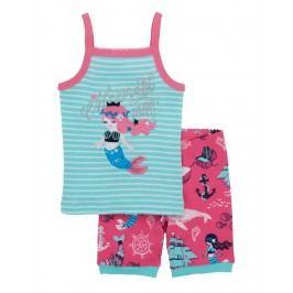 Hatley Dívčí pyžamo Mermaid - modro-růžové