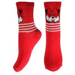 E plus M Dívčí ponožky Minnie - červené