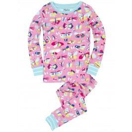 Hatley Dívčí pyžamo s motýlky - růžové