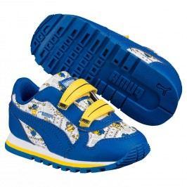 Puma Chlapecké tenisky ST Runner Mimoni - modro-bílé