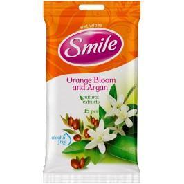 SMILE Vlhčené ubrousky Pomeranč /arganový olej 2x15 ks