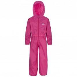 Trespass Dívčí nepromokavý overal Button - růžový
