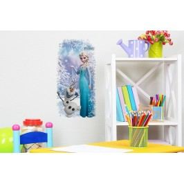 Walplus Samolepka na zeď Frozen, Elsa & Olaf, 53x27 cm