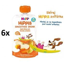HiPP BIO Smoothie Jablko-Hruška-Mrkev-Dýně 6 x 120 ml