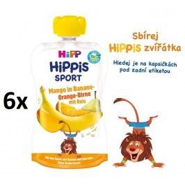 HiPP BIO Sport Hruška-Pomeranč-Mango-Banán-Rýže 6 x 120 g