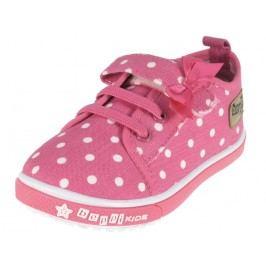 Beppi Dívčí voňavé puntíkované tenisky - růžové