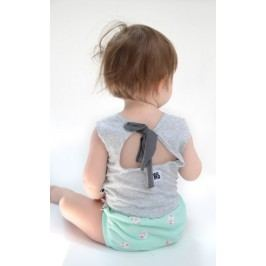 Lamama Dívčí top na zavazování - šedý