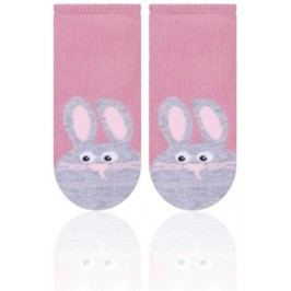 STEVEN Dívčí ponožky se králíčkem - starorůžové