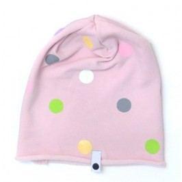 Lamama Dívčí čepice puntíkovaná - starorůžová