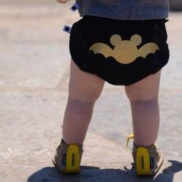 Lamama Kalhotky na plenu Batman 0-6 měsíců (62/68 cm) - černé