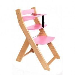 WOOD PARTNER Rostoucí židle UNIZE - natur lak -růžová