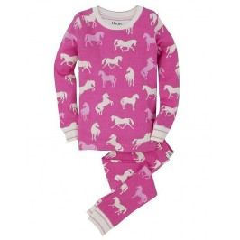 Hatley Dívčí pyžamo s koníky - růžové
