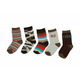 PIDILIDI Chlapecký set 5 párů ponožek - barevný