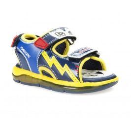 Geox Chlapecké svítící sandály B Sandal Todo Boy - žluto-modré