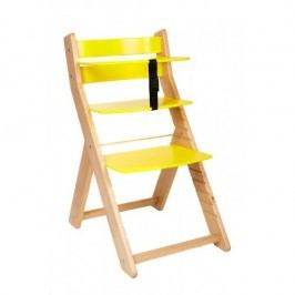 WOOD PARTNER Rostoucí židle UNIZE - natur lak - žlutá