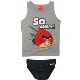 E plus M Chlapecký set tílka a slipů Angry Birds - šedý