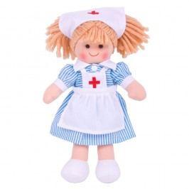 Bigjigs Látková panenka zdravotní sestřička Nancy - 25 cm