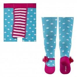 SOXO® Dívčí vzorované punčocháče - modré