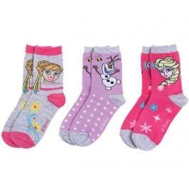 Disney Set 3 párů dívčích ponožek Frozen