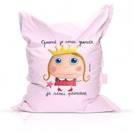 Label Tour Dětský sedací vak Princezna, 90x120 cm - světle růžový EOL