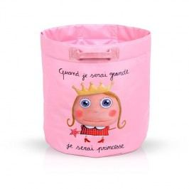 Label Tour Dětský vak na hračky Princezna, 40x41 cm - růžový