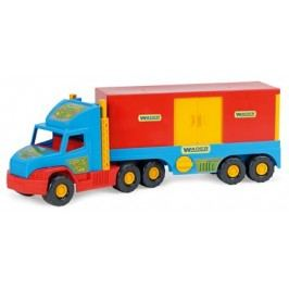 WADER Auto Super Truck kontejner plast 78 cm - modrý