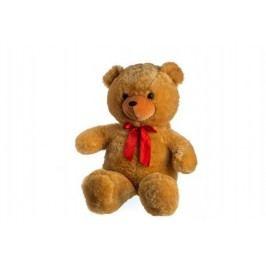 Teddies Medvěd s mašlí - 80 cm - světle hnědý