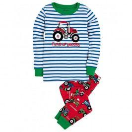 Hatley Chlapecké pyžamo s traktorem - barevné