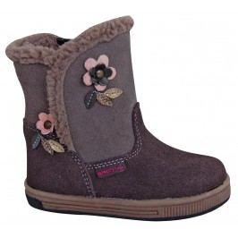 Protetika Dívčí zimní boty Simona - hnědé