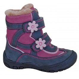Protetika Dívčí zimní boty s kytičkami Diana - šedé