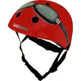 Kiddimoto Cyklistická helma Google - červená, velikost S