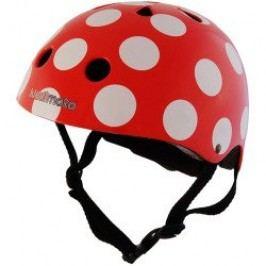 Kiddimoto Cyklistická helma Dotty - červená, velikost M