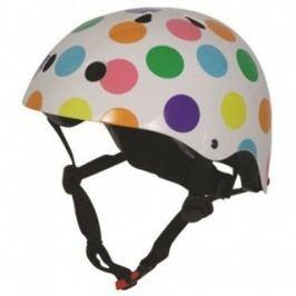 Kiddimoto Cyklistická helma Dotty - barevná, velikost M
