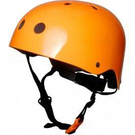 Kiddimoto Cyklistická helma Neon - oranžová, velikost S